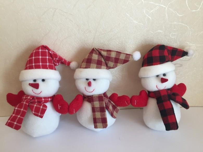 12CM可爱的填充玩具雪人 1
