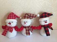 12CM可愛的填充玩具雪人