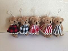lovely plush bear with skirt hanging