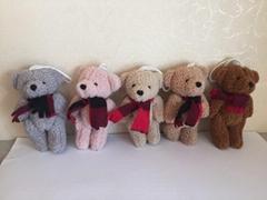 新材料熊配围巾