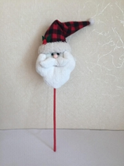 填充圣诞老人头插枝