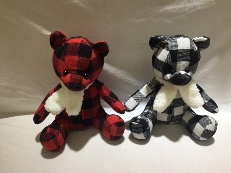 Stuffed Plaid bear 1
