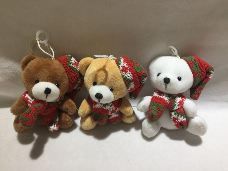 Christmas scarf sitting bear