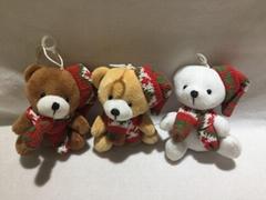 圣诞围巾坐熊