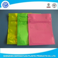 2015 Alibaba 3-side Sealed Customized Laminated Bag with Zipper for Packing Food