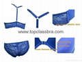 2015 Front Closure Microfiber Lace Underwear Bra with SGS  3