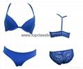 2015 Front Closure Microfiber Lace Underwear Bra with SGS  2