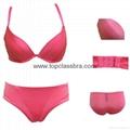 2015 Ladies Soft Satin Push up Lingerie Underwear Set