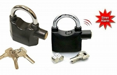 High quality Motorcycle alarm lock Padlock alarm Waterproof siren alarm lock