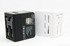 World travel adapter  multi-function adapter with USB charger port