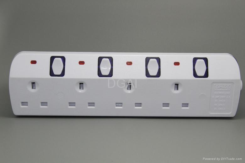 Extension socket  UK outlet British power strip  1