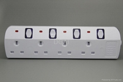 Extension socket  UK outlet British power strip