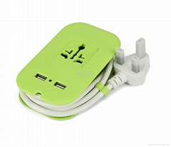 USB extension socket   2.1a USB charger  power strip