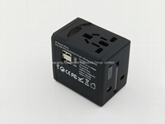 Portable travel adapter all in one USB plug