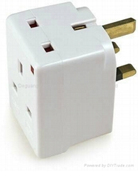 UK plug  3 converter  all in one  British electrical plug