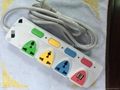 New arrival USB power strip universal electrial plug extension cord  1