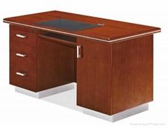 扬州油漆办公桌实木职员桌