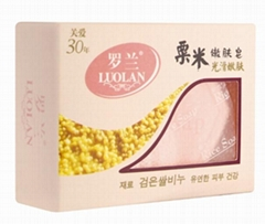 Black rice bath soap with amino acid for
