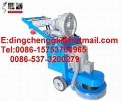 with vacuum cleaner diamond concrete grinder floor polisher