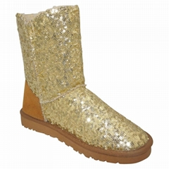 Ladies' Snow Boots with Sequins in