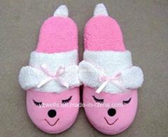 女式高檔室內棉拖鞋