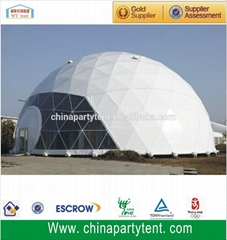 big stainless steel geodesic dome for outdoor events