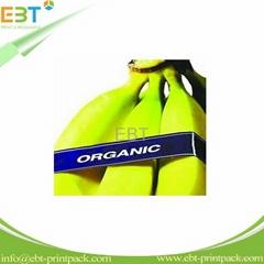 Banana label for packaging