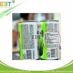 custom adhesive drinks packaging label