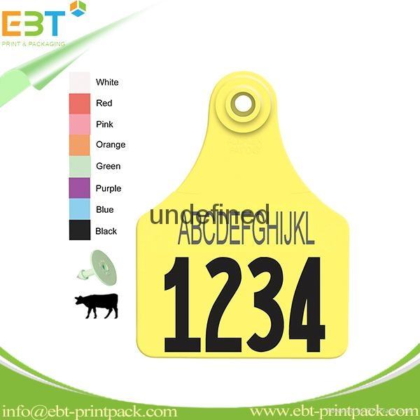 LF 125khz 134.2khz / HF 13.56mhz / UHF 860-960mhz Animal RFID Ear Tag for Cow Ca 2