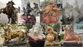 marble animal sculptures