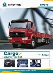 Sinotruk golden prince 336hp 6X4 cargo truck