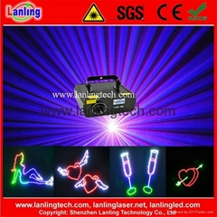 1W RGB ILDA Animation disco laser Light