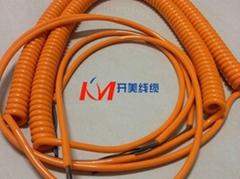 螺旋电缆/PUR螺旋弹簧电缆/厂家直销质量优