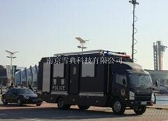 Emergency High mast lighting tower and vehicle internal mounted telescopic light