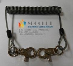 供應加粗型內包鋼絲扳手工具失手彈簧繩