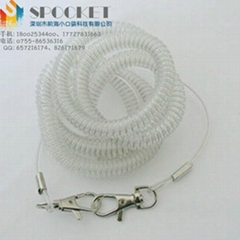 生產定製包鋼絲彩色漁具失手繩