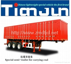 Side door van type box semi trailer
