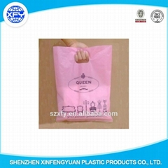 Custom Design Printed PE Plastic Packing Bag with Handle