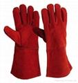 Cowhide split leather welding gloves