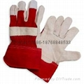 10.5 inch cow split leather working gloves 3