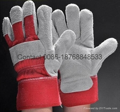 10.5 inch cow split leather working gloves