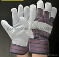 10.5 inch cow split leather working gloves 2
