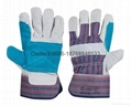 10.5 inch cow split leather working gloves 5