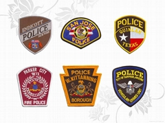 Customized police embroidery patches with iron on