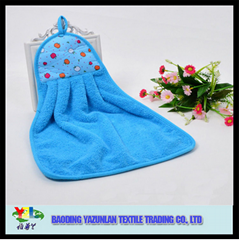 promotional 100%polyester kitchen hand towel with tie