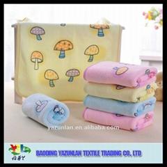 Microfiber gentle printing baby hand towel 40*60cm