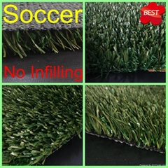 Without Infilling 25mm Soccer Football Synthetic Turf Artificial Grass