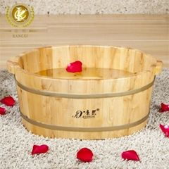 Chinese maunfacture wooden foot basin,bring warm and relaxing in winter