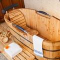 Luxury freestanding eco-friendly massage bathtub 5