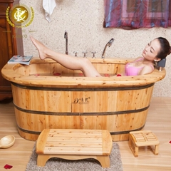 Chinese wooden hot and cold tub with whirlpool bathtub jet parts